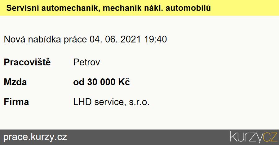 Servisní automechanik, mechanik nákl. automobilů, Mechanici a opraváři nákladních automobilů